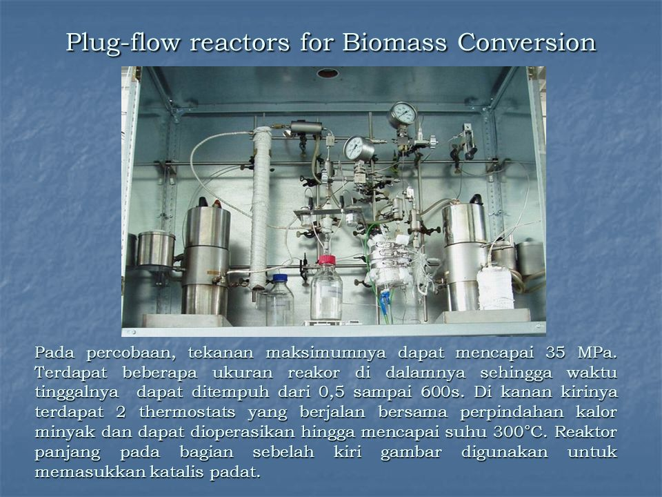 Plug-flow reactors for Biomass Conversion