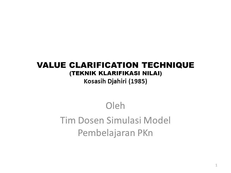 Oleh Tim Dosen Simulasi Model Pembelajaran PKn