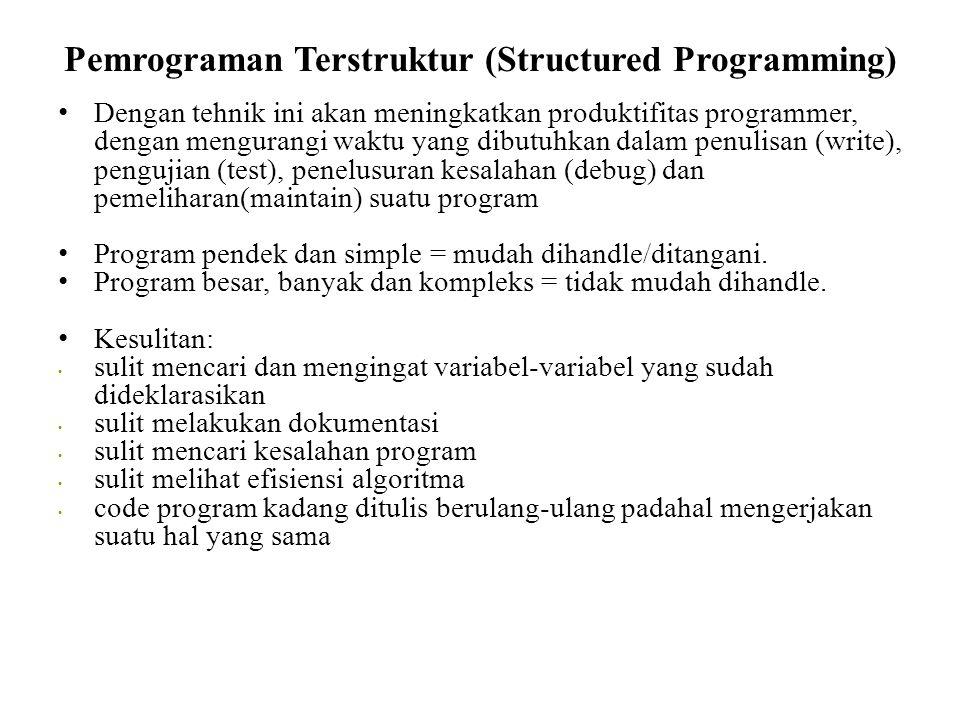 Pemrograman Terstruktur (Structured Programming)
