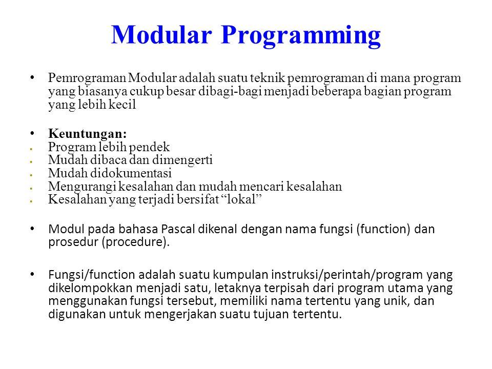 Modular Programming