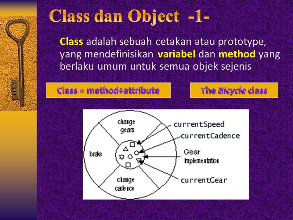 Class = method+attribute