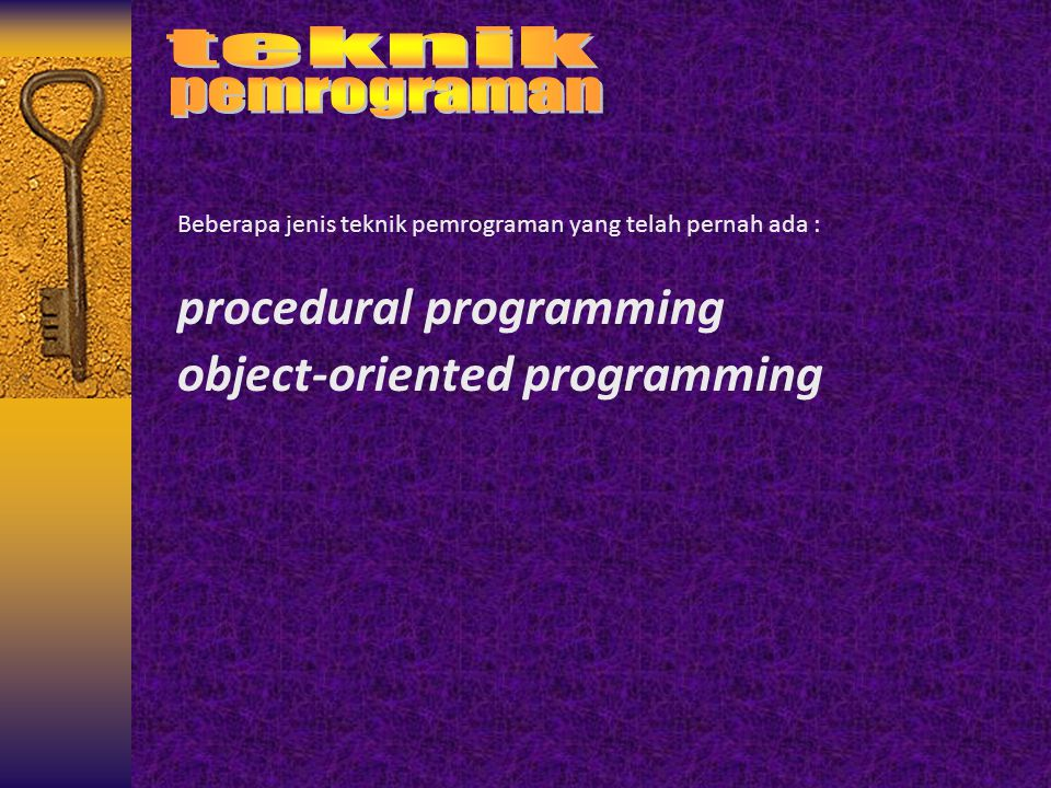 procedural programming object-oriented programming