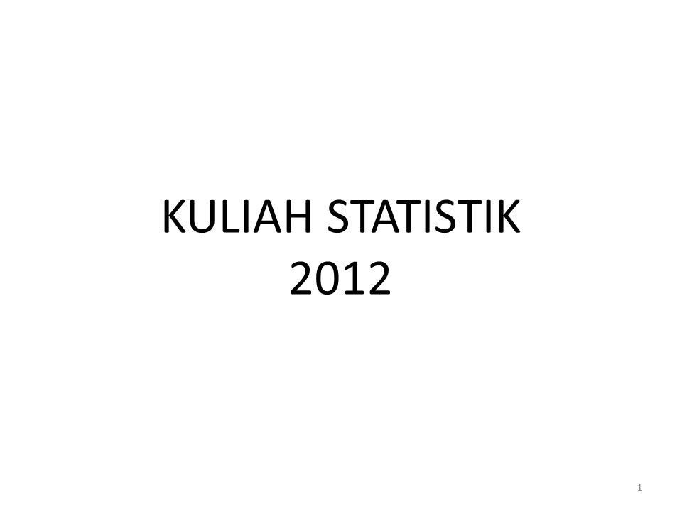 KULIAH STATISTIK 2012