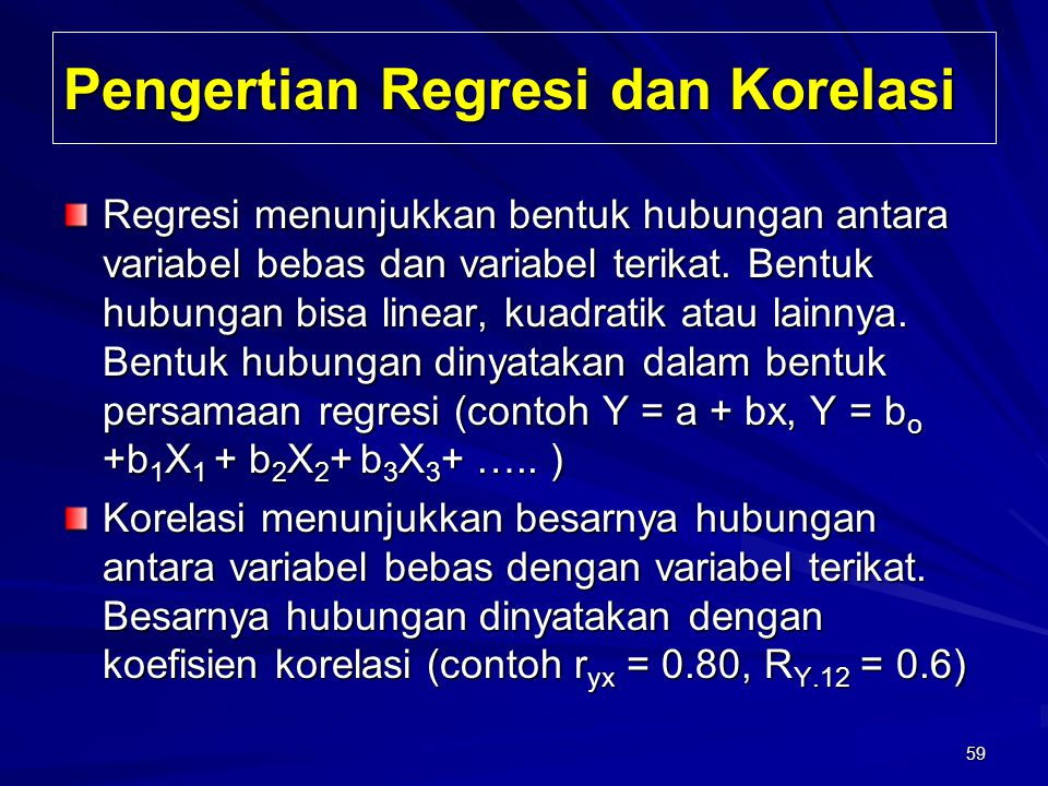 Pengertian Regresi dan Korelasi