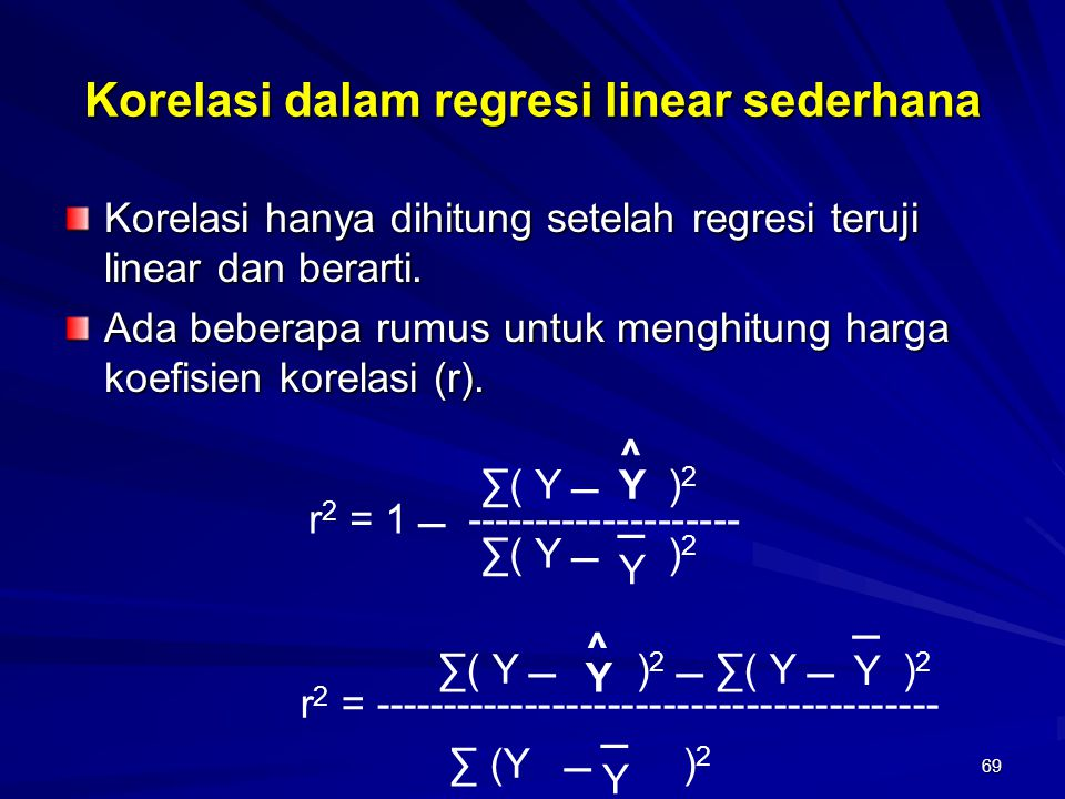 Korelasi dalam regresi linear sederhana