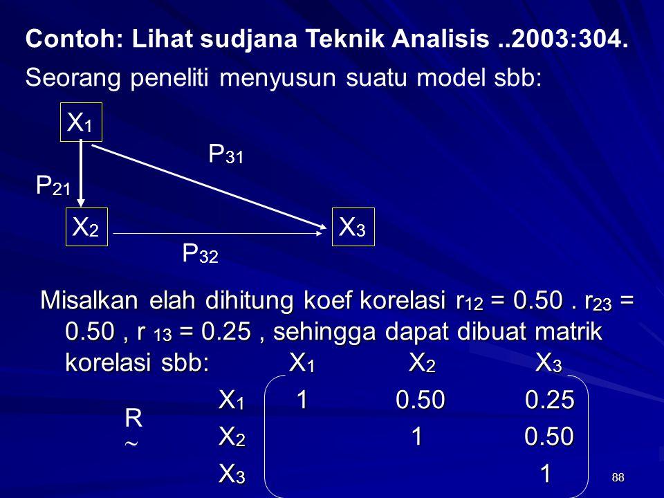 Contoh: Lihat sudjana Teknik Analisis ..2003:304.