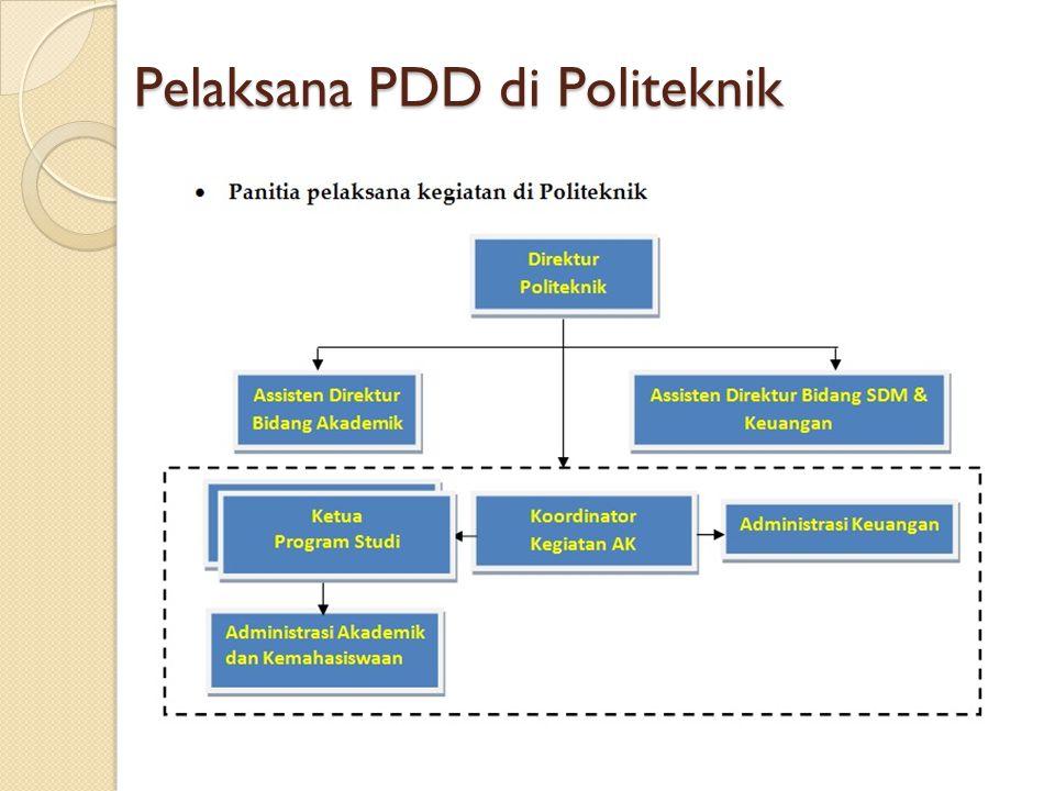 Pelaksana PDD di Politeknik