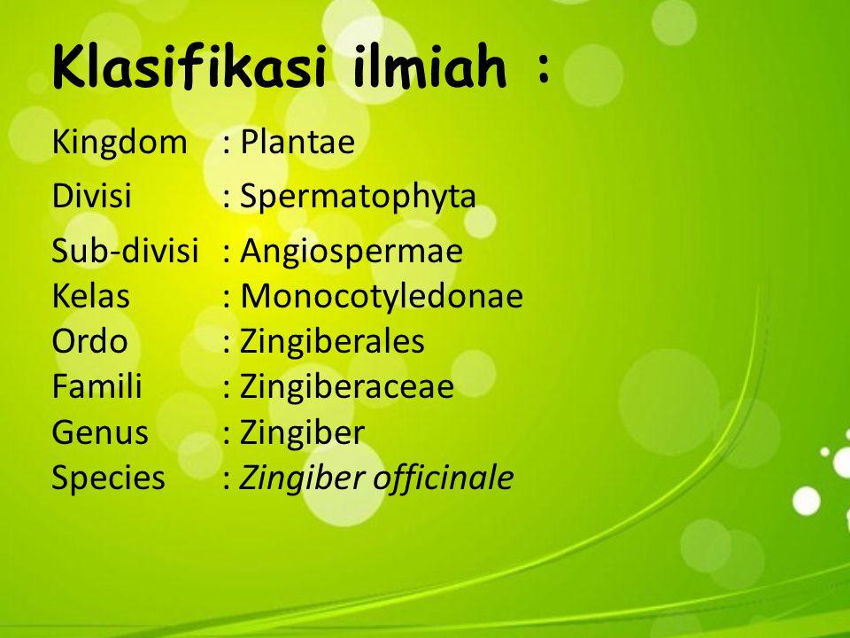 Klasifikasi ilmiah :