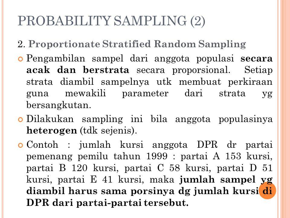 PROBABILITY SAMPLING (2)