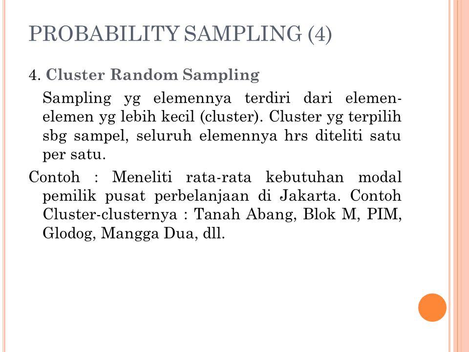 PROBABILITY SAMPLING (4)