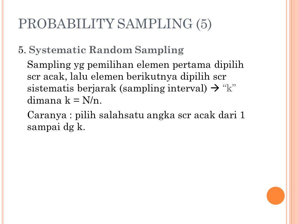 PROBABILITY SAMPLING (5)