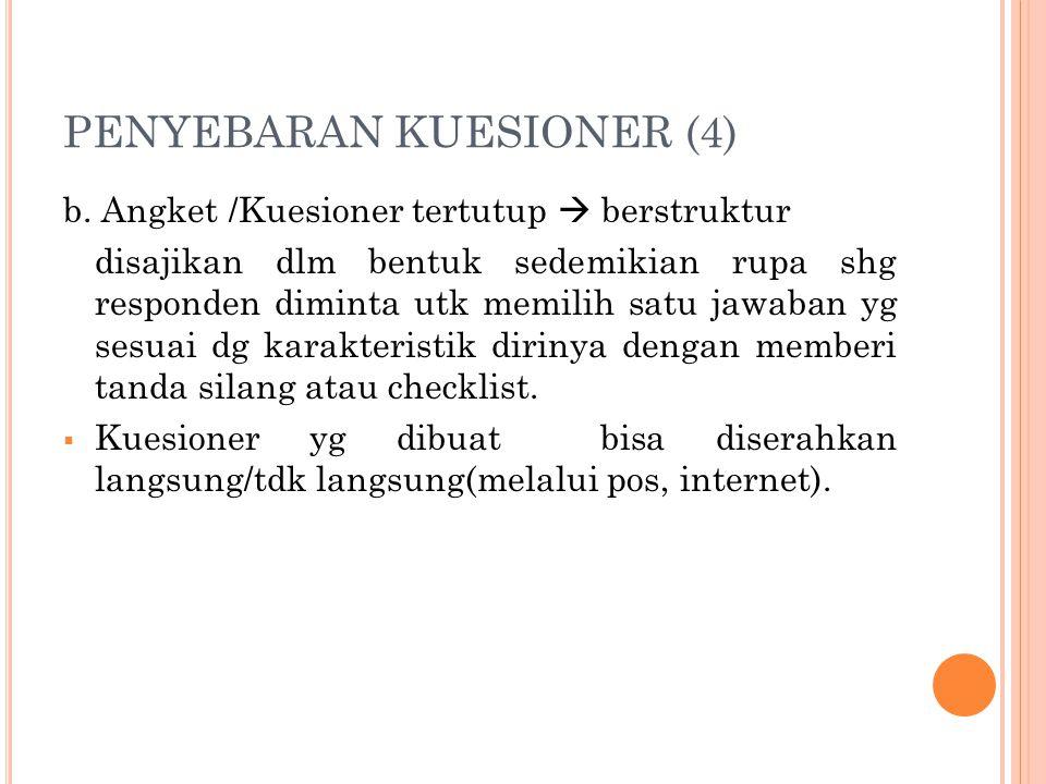 PENYEBARAN KUESIONER (4)
