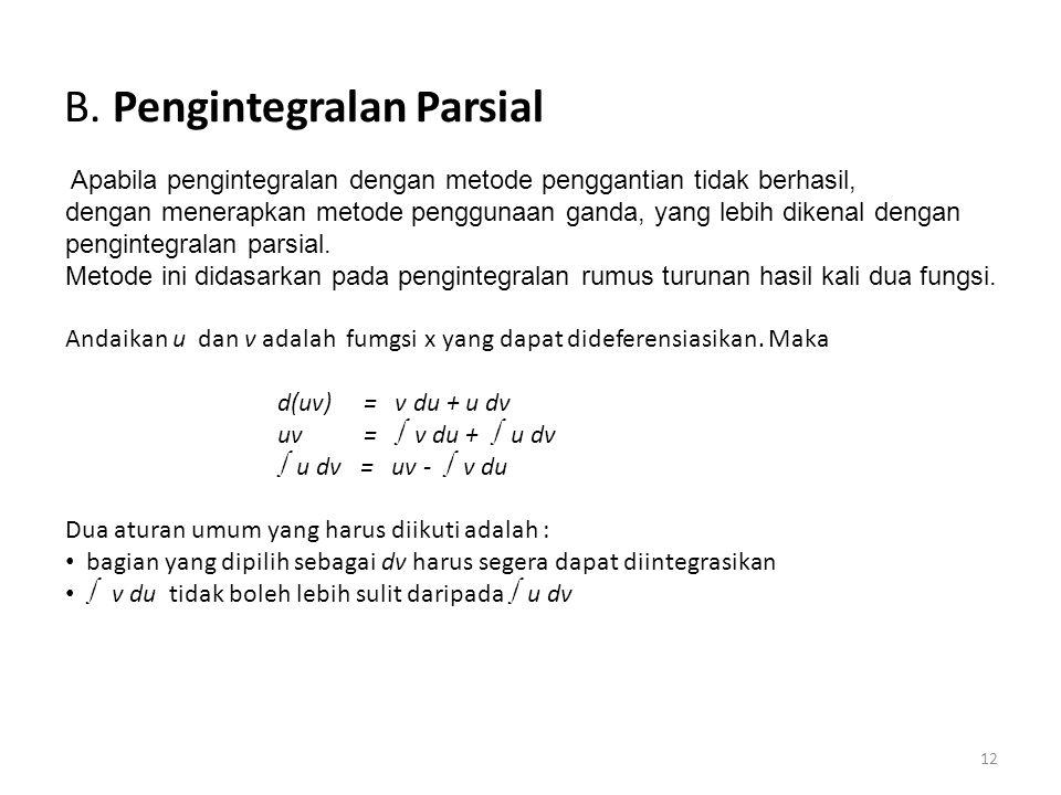B. Pengintegralan Parsial