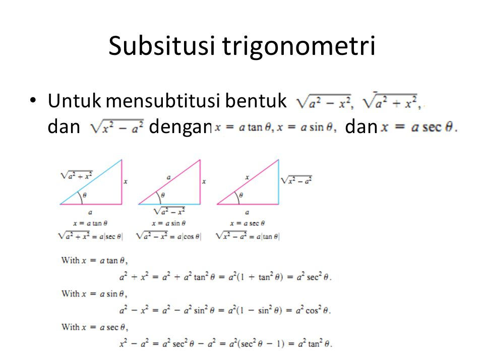 Subsitusi trigonometri