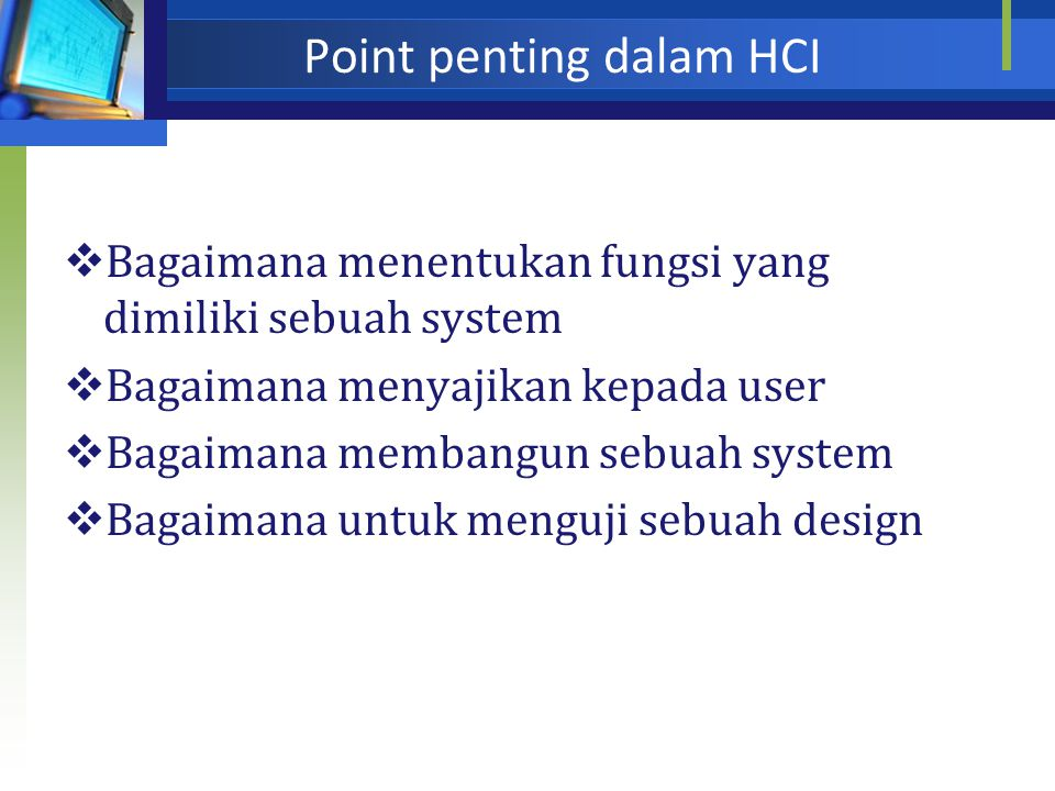 Point penting dalam HCI