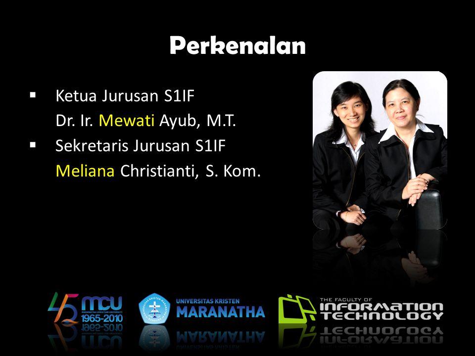 Perkenalan Ketua Jurusan S1IF Dr. Ir. Mewati Ayub, M.T.