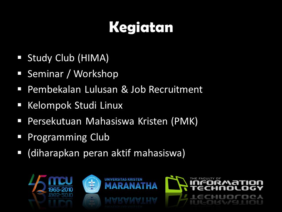 Kegiatan Study Club (HIMA) Seminar / Workshop