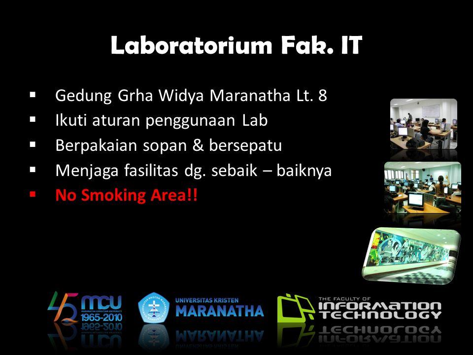 Laboratorium Fak. IT Gedung Grha Widya Maranatha Lt. 8