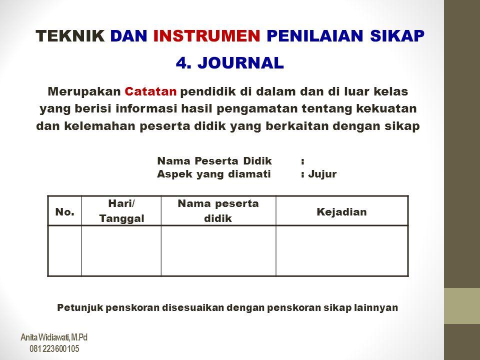 TEKNIK DAN INSTRUMEN PENILAIAN SIKAP 4. JOURNAL