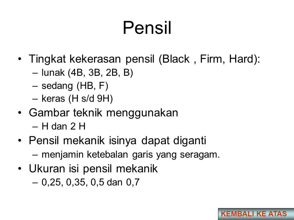 Pensil Tingkat kekerasan pensil (Black , Firm, Hard):