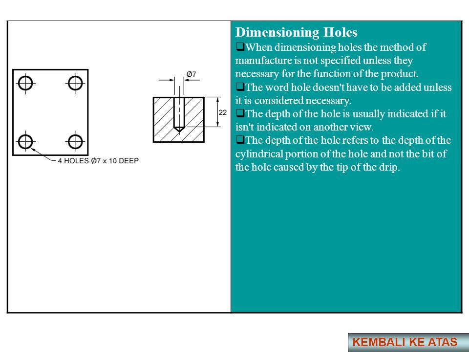Dimensioning Holes KEMBALI KE ATAS