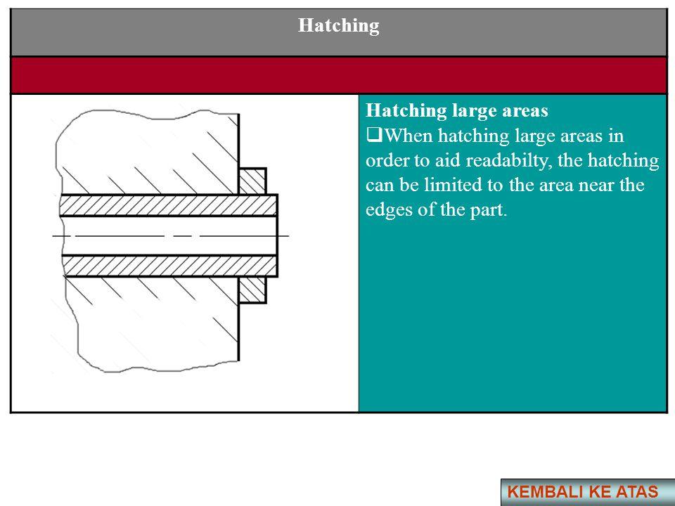Hatching Hatching large areas
