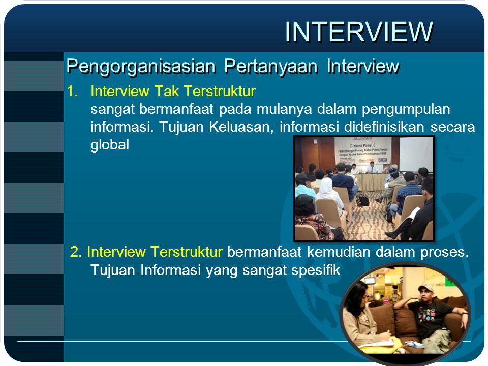 Pengorganisasian Pertanyaan Interview