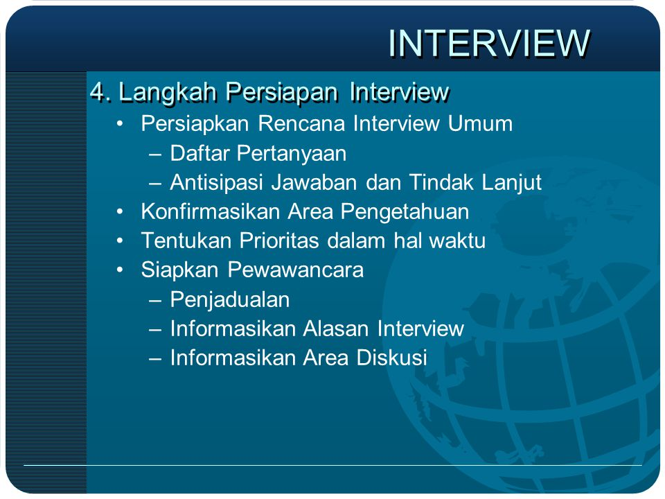 4. Langkah Persiapan Interview