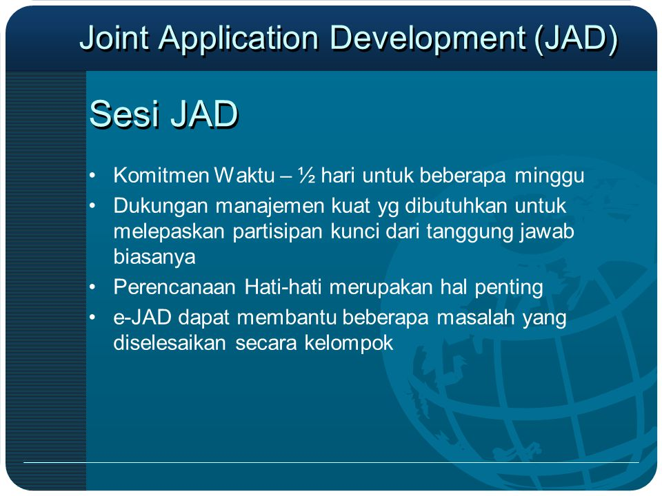 Joint Application Development (JAD)