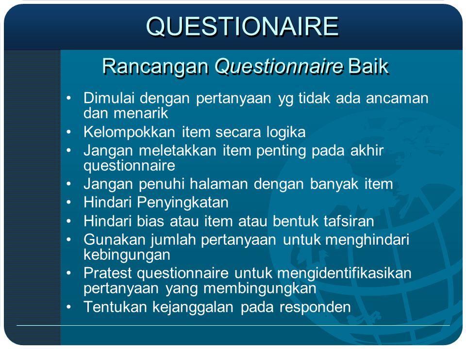 Rancangan Questionnaire Baik