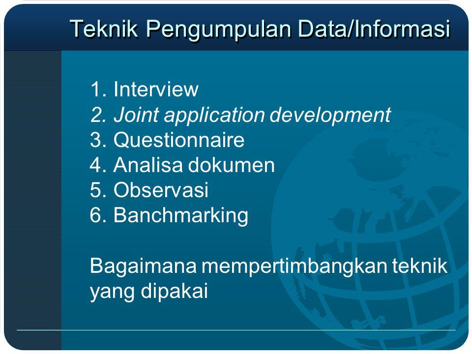 Teknik Pengumpulan Data/Informasi