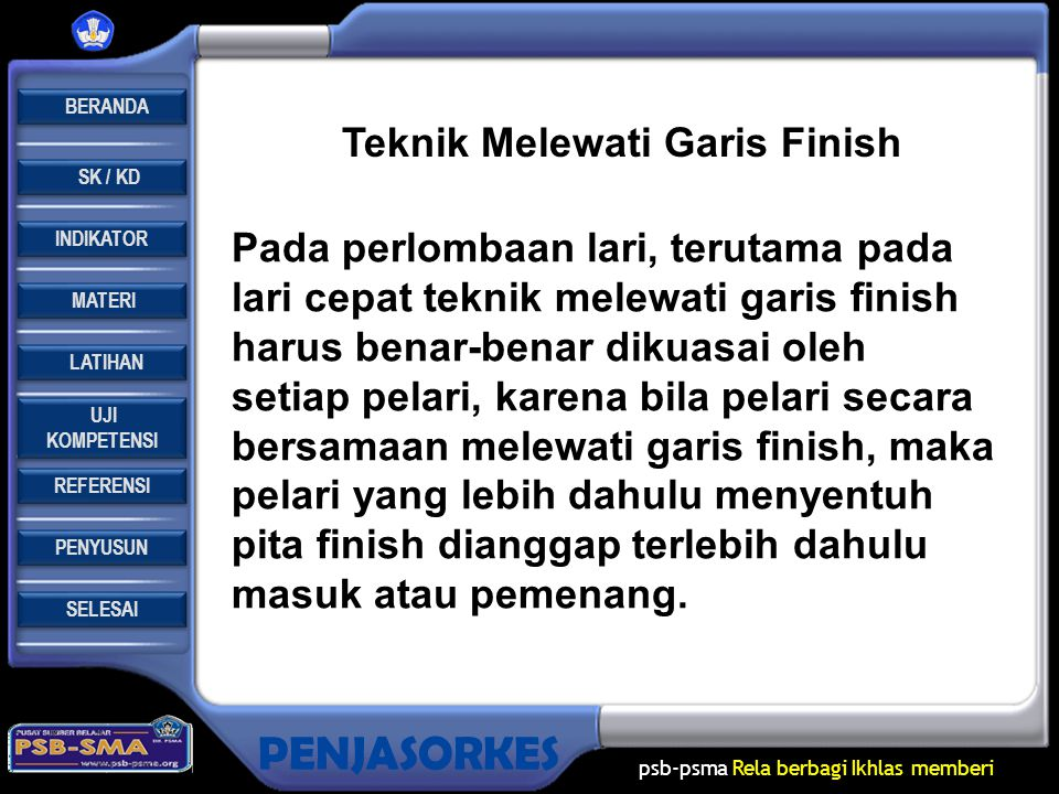 Teknik Melewati Garis Finish