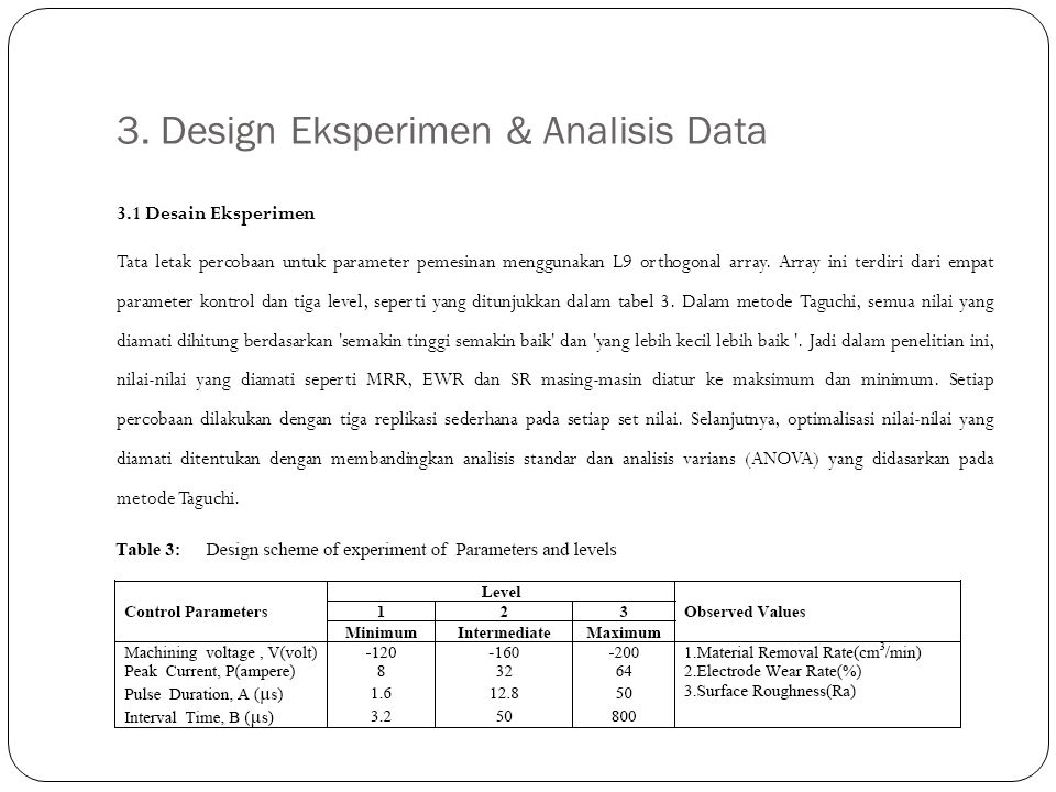 3. Design Eksperimen & Analisis Data