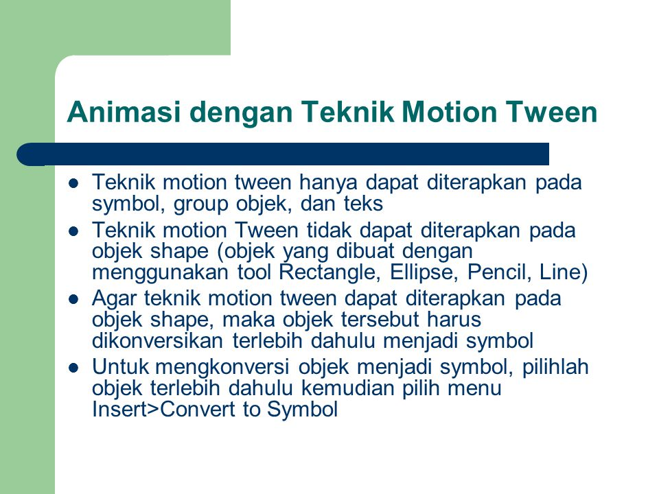 Animasi dengan Teknik Motion Tween