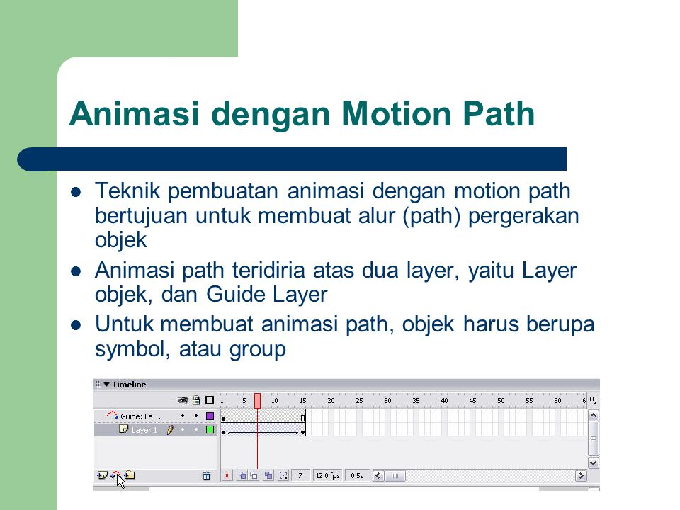Animasi dengan Motion Path