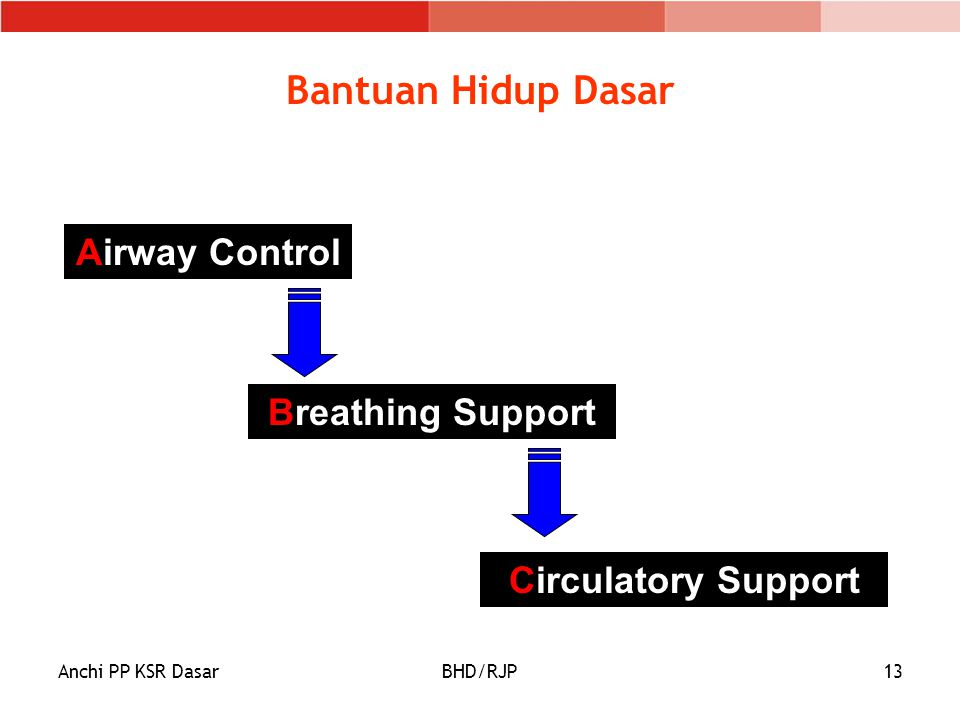 Bantuan Hidup Dasar Airway Control Breathing Support