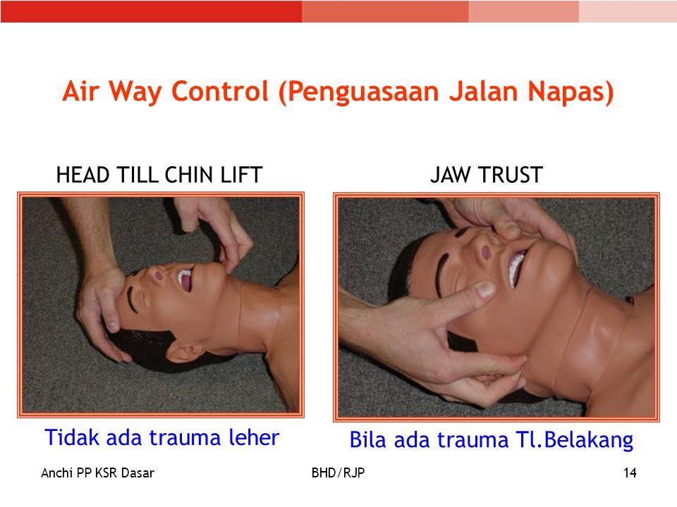Air Way Control (Penguasaan Jalan Napas)