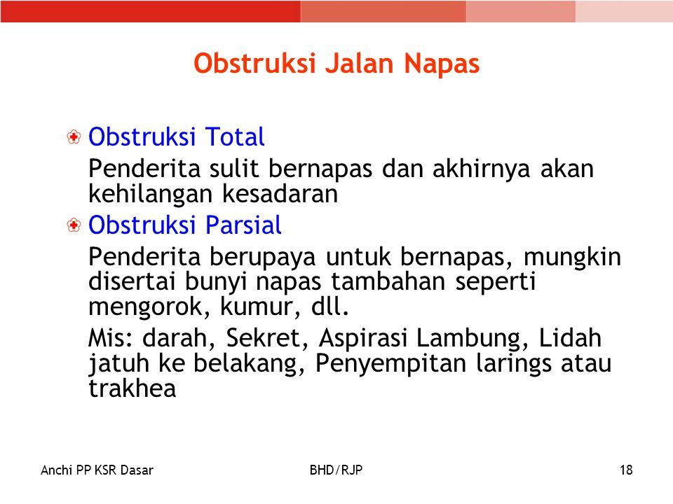 Obstruksi Jalan Napas Obstruksi Total