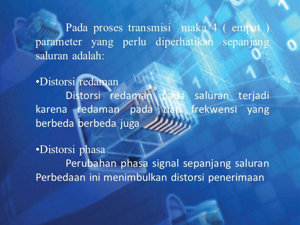 Pada proses transmisi maka 4 ( empat ) parameter yang perlu diperhatikan sepanjang saluran adalah: