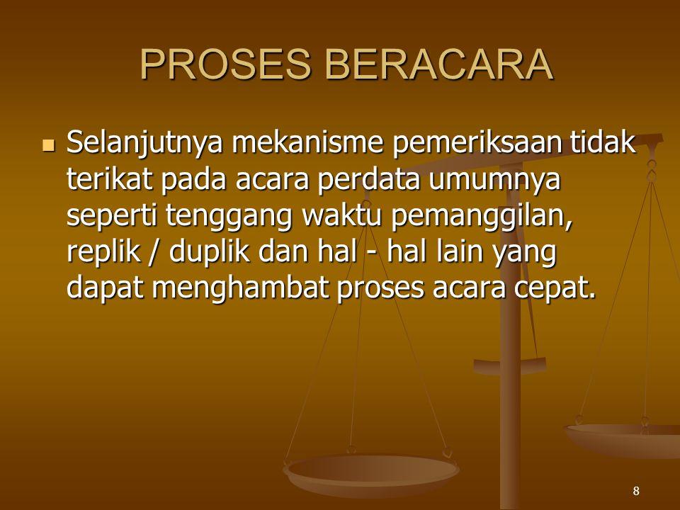 PROSES BERACARA