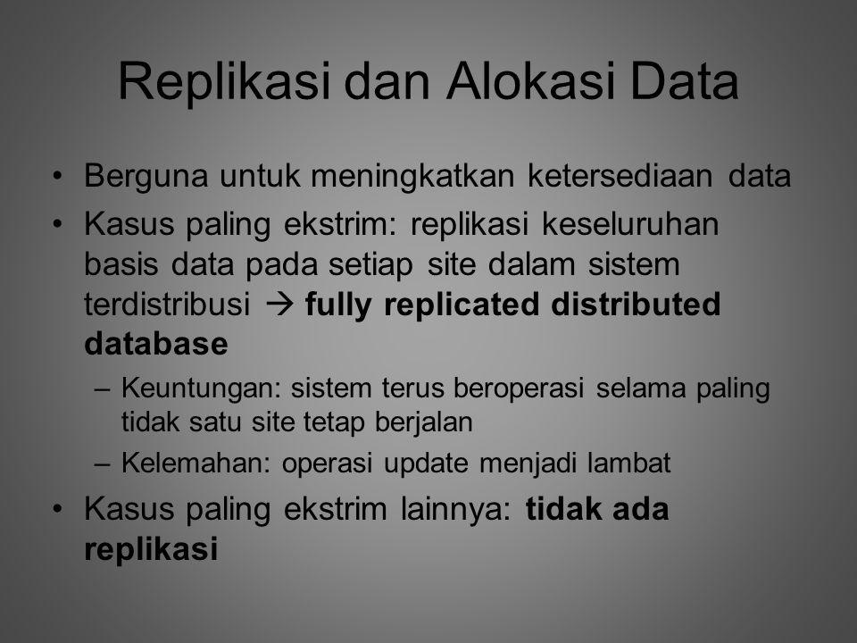 Replikasi dan Alokasi Data
