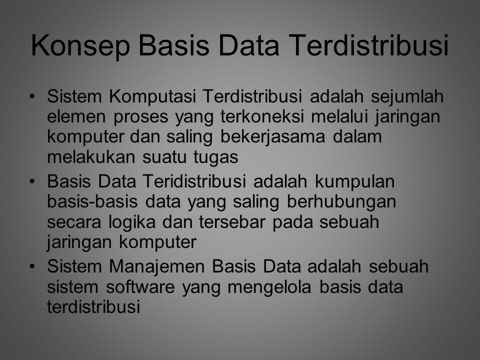 Konsep Basis Data Terdistribusi