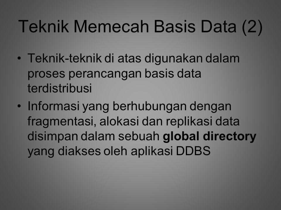 Teknik Memecah Basis Data (2)