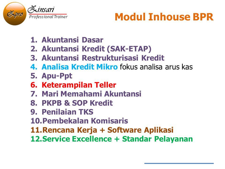 Modul Inhouse BPR Akuntansi Dasar Akuntansi Kredit (SAK-ETAP)