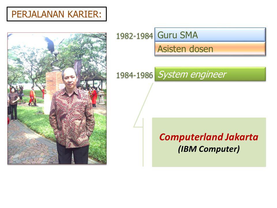 Computerland Jakarta PERJALANAN KARIER: Guru SMA Asisten dosen