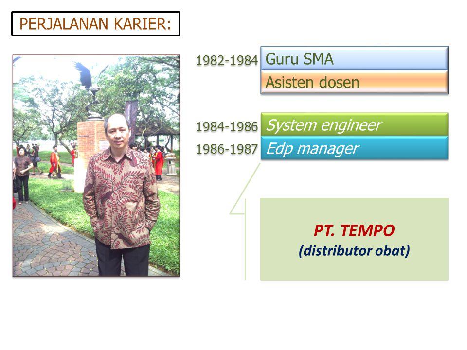 PT. TEMPO PERJALANAN KARIER: Guru SMA Asisten dosen System engineer
