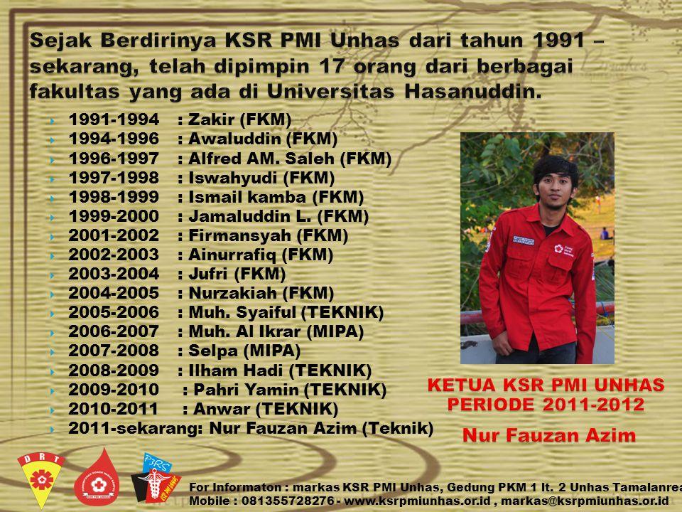 KETUA KSR PMI UNHAS PERIODE 2011-2012