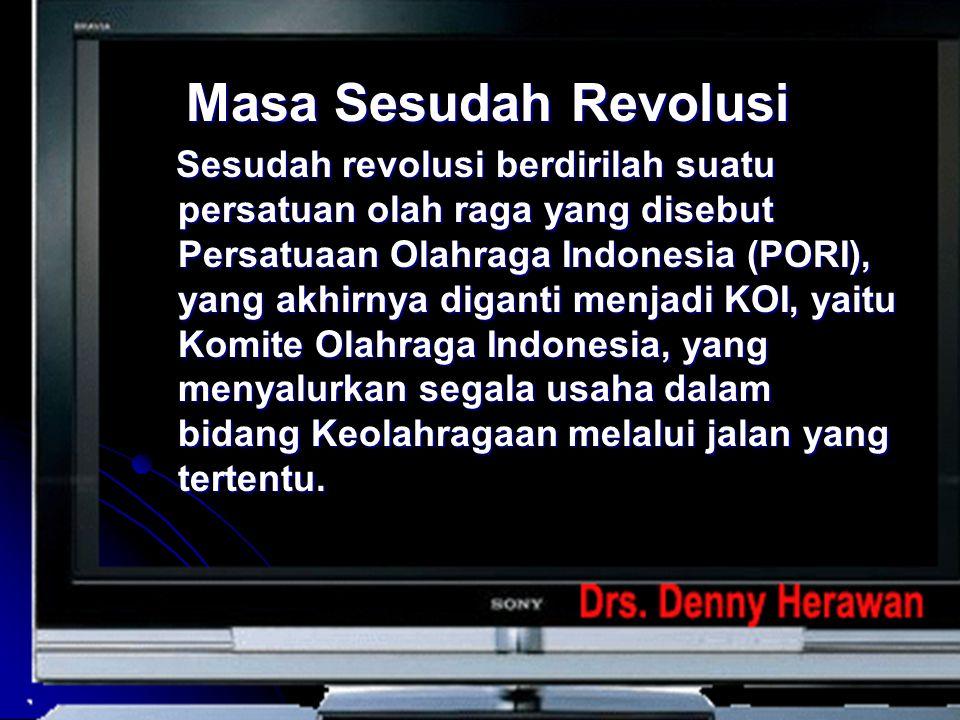 Masa Sesudah Revolusi