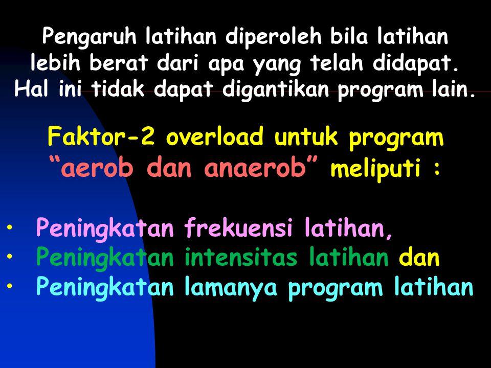 Faktor-2 overload untuk program aerob dan anaerob meliputi :