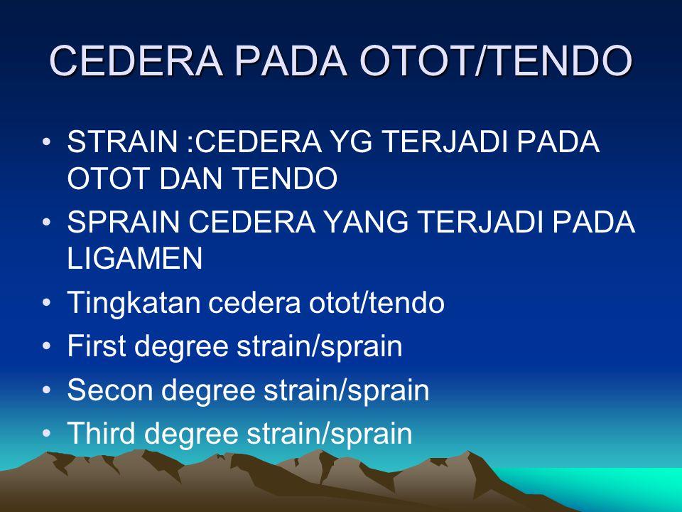 CEDERA PADA OTOT/TENDO